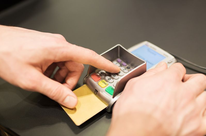クレジットカードの暗証番号を入力する