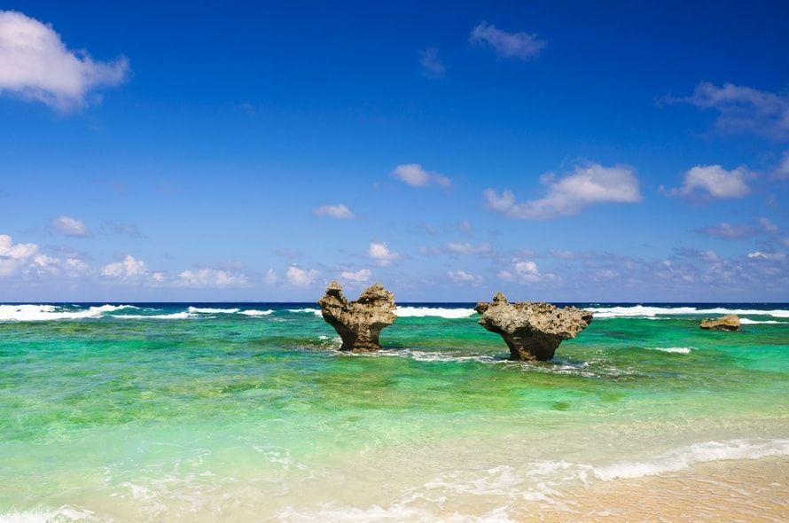 沖縄の海とハートロック