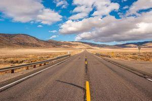 一直線の道路