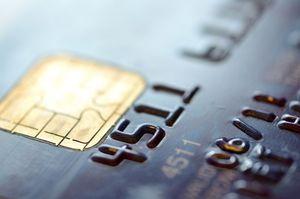 クレジットカードを拡大した写真