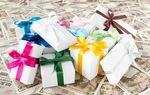 ヒロセ通商のキャンペーンのアイキャッチでプレゼントとお札