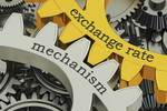 exchange rate、mechanismと書かれた歯車