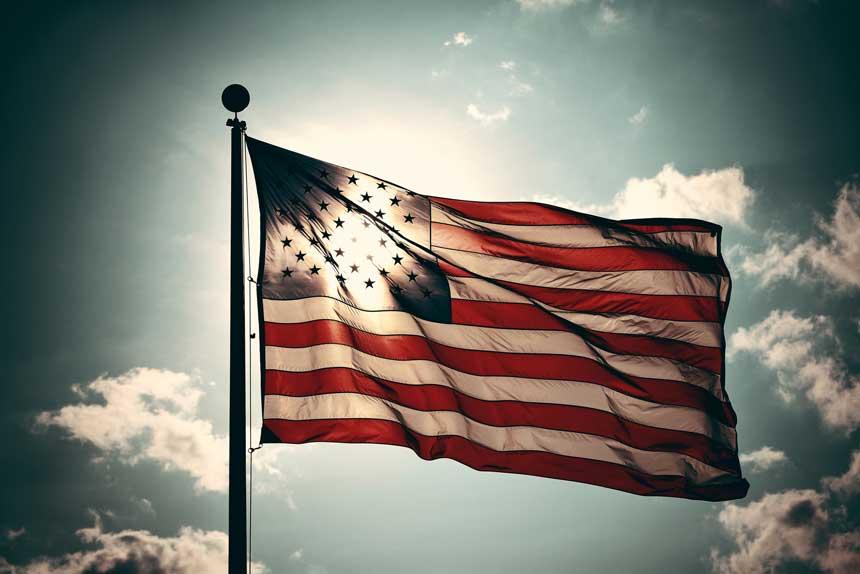 はためく星条旗