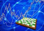 チェス版とチャートの背景