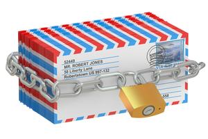 届かない郵便物