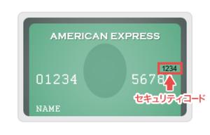 アメリカンエキスプレスのセキュリティコード
