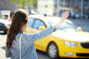 タクシーを止める